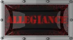 Allegiance on led Stock Footage