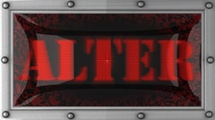 alter on led - stock footage