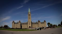 Time Lapse of Canadian Parliament with Ultra Wide Angle - stock footage