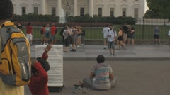 Stock Footage - Protester in front of White House Stock Footage