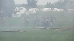 Stock Footage Clips - confederate retreat in rain\smoke Stock Footage