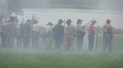 Stock Footage Clips -  Calvary passes in front of Union Soldiers Stock Footage