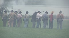 Stock Footage Clips - Troops firing rifles - Union Calvary passing - stock footage
