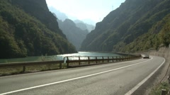 Road by the river Stock Footage