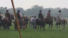 Stock Footage Clips - Union troops surrender to Confederate Calvary - stock footage