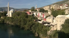 Mosque by Neretva 2 Stock Footage