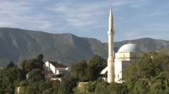 Mosque. Mostar - stock footage