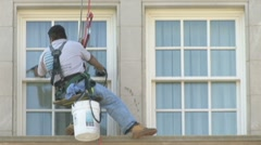 Window washers Stock Footage