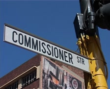 Commissioner Street whips, Joburg GFSD - stock footage