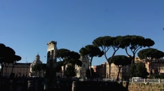 Rome The Forum Roman Empire Stock Footage