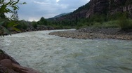 Uncompaghre River, ouray, Colorado - 4 Stock Footage