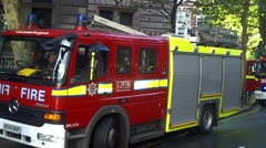 Fire Engines At Scene Stock Footage