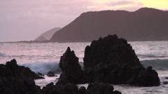 Rocky coastline near Wellington, New Zealand Stock Footage