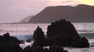 Rocky coastline near Wellington, New Zealand Stock Footage