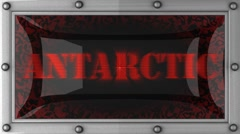 antarctic on led - stock footage