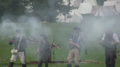 Stock Footage Clips - Confederate troops getting pushed back - stock footage