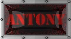 Stock Video Footage of antony on led