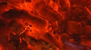 Molten Hell Coals of Fire and Burning Stock Footage