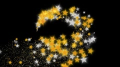 Stardust - Silver and gold - hd1080 Stock Footage