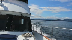 Boat Cruises Alaskan Waters ED Stock Footage