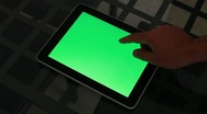 Tablet - green screen Stock Footage
