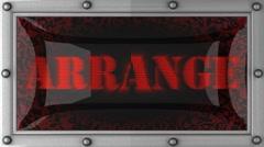 Stock Video Footage of arrange on led