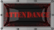 Attendance on led Stock Footage
