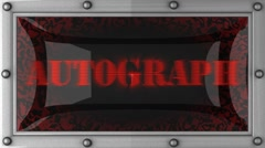 Stock Video Footage of autograph on led
