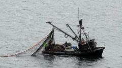 Fishermen Haul Nets  ED Stock Footage