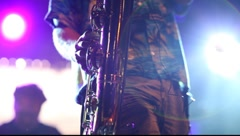 Sax player Stock Footage