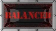 Balanced on led Stock Footage