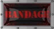 Bandage on led Stock Footage