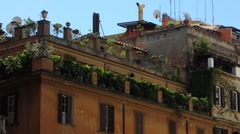 Rome Green balcony or Green rooftop Stock Footage