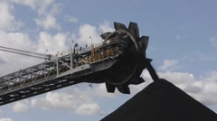 coal stockpile - stock footage