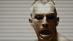 TV shout shouting scream shriek body painting dancers moon sun gold male dancing Stock Footage