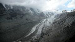 Glacier Pasterze wide Stock Footage