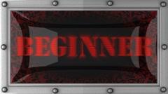 beginner on led - stock footage