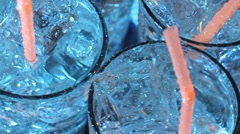 Blue cocktail Stock Footage
