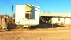 Bombay Beach CA Low Income Living Drive-by 1 - stock footage