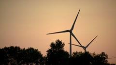 Wind Turbines Twin - stock footage