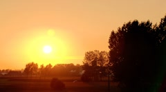 Sunset over the countryside Stock Footage