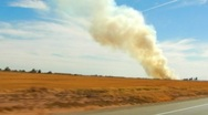Stock Video Footage of Burning Farm Fields- Imperial Valley, CA 1