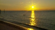 Sun setting across Tampa Bay, Fl Stock Footage