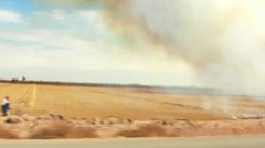 Burning Farm Fields- Imperial Valley, CA 5 Stock Footage