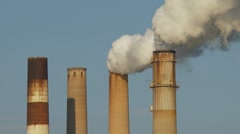 Smoke Stacks of TECO Power Plant in Apollo Beach, Fl Stock Footage