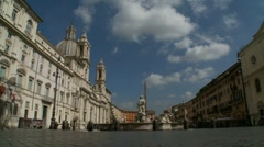 Stock Video Footage of Piazza Navona 38 second timelapse