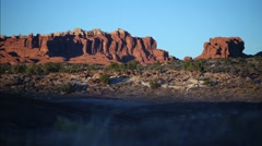 Moab Utah Red Rock Timelapse Stock Footage