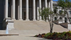 WV State capital steps Stock Footage