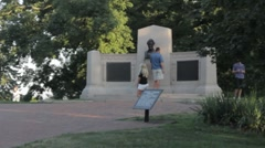 Stock Footage - Tourists visiting the spot pf the Gettysburg Address Stock Footage