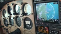 small plane cockpit - stock footage